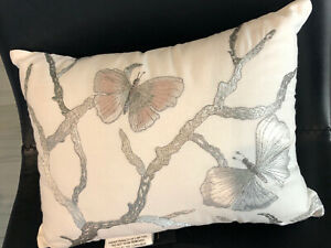 """Michael Aram Butterfly Embroidered 12"""" x 16"""" Decorative Pillow New w/ tags"""