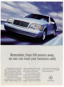 1998 MERCEDES S Class Vintage Original Print AD - Silver luxury car photo Canada