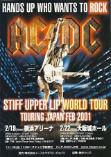 AC/DC STIFF UPPER LIP MINI ROCK CONCERT POSTER 2001 JAPAN TOUR B5 ANGUS YOUNG!!!