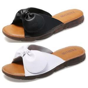 Ladies Womens Summer Slip On Slingbacks Mules Slipper Holiday Beach Flat Shoes B