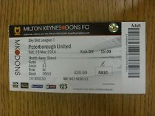 15/03/2014 Ticket: Milton Keynes Dons v Peterborough United  . Thanks for viewin