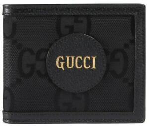 NEW GUCCI OFF THE GRID BLACK GG FABRIC LEATHER LOGO BIFOLD WALLET W/BOX