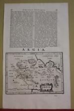 ARGOLIS GREECE 1661 JOHANN LAUREMBERG ANTIQUE ORIGINAL COPPER ENGRAVED MAP