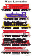 "Watco Locomotives 11""x17"" Railroad Poster by Andy Fletcher signed"
