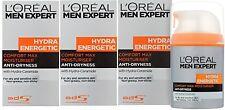3 x 50ml LOreal Men Expert Hydra Energetic Comfort Max Moisturiser Anti-Dryness