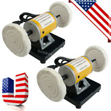 2x Polisher Polishing Machine Dental Lathe Bench Table Buffer Grinder Jewelry