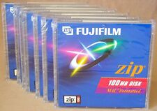 LOT of 7 100MB Zip Disk MAC Formatted Fujifilm Blank Storage Media *NEW & SEALED