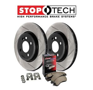For Ford F150 Lincoln Front StopTech Slotted Brake Rotors+Pads Kit 937.65015