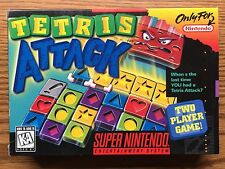 SUPER NINTENDO TETRIS ATTACK GAME WITH BOX ITEM #2057-20