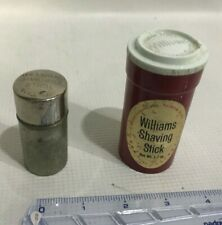 Vintage Williams Shaving Stick with Full Contents Foil Red & Vintage Cannister