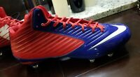 Nike Vapor Speed D 3/4 Mid Football Cleats Men's Size 13 Red White Blue 668853