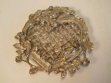 Heart and Rose Pattern Metal Trivet / Wall Hanging