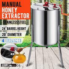 Extracteur de Miel Manuel Centrifugeuse 4 cadres+2 couvercles+Robinet Inoxy