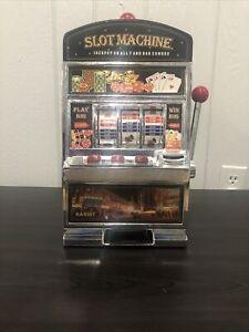 Large Slot Machine with Lights and BankLas Vegas Casino MINISlot Machine Toy
