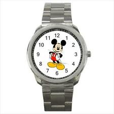 Men's Brand New Mickey 2 Mouse Japan Quartz Metal Sport Watch