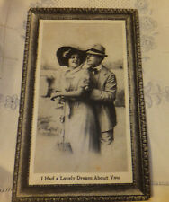 Antique postcard sweetheart I had dream about you blank 1cnt stamp series 736 Bw