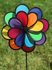 """15""""+13 """"Double Flower Spinner pinwheel"""