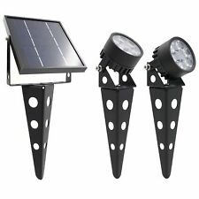 Legacy Mini 50X Twin Solar-Powered LED Spotlight Warm White LED for Outdoor G...