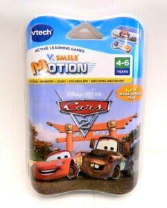 New V Tech V Smile Motion Cyber Pocket Cartridge Disney Cars 2 Game Active