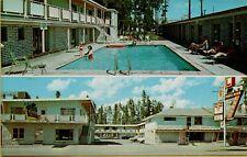 Multi-View Three Bear Motor Lodge & Restaurant West Yellowstone MT Postcard B40