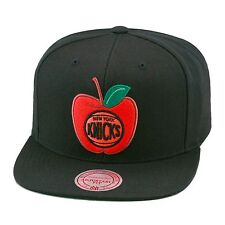 Mitchell & Ness New York Knicks Snapback Hat Cap NBA All Black/APPLE