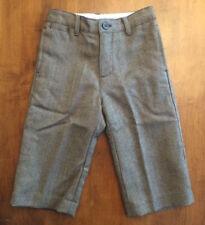 0f92330f015 Boys JANIE AND JACK WOOL PANTS SLACKS Brown Tweed LINED Size 12-18 Months