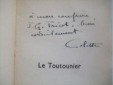 COLETTE - Le Toutounier - EO Ex Service de presse Envoi Signé Autographe 1939 BE