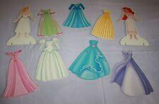 Disney Magnetic Paper Doll Princess Little Mermaid Aurora Dresses Dress Up Toys