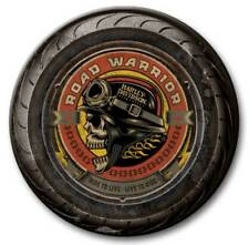 Harley-Davidson 23 in Round 2 Piece Tire Skull Wooden Sign CU118A-AD-RW-HARL