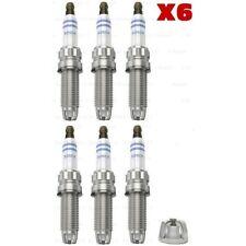 BMW OEM Bosch set of 6 Spark Plugs ZGR6STE2 E87 120i E92 330i E60 530i X6 Z4
