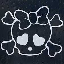 Hello Kitty Crossbones cráneo ventana de coche de parachoques etiqueta pegatina de vinilo Color Elección