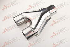 "Y Pipe Universal Custom Exhaust Y-Pipe 4"" Dual 4"" Single Steel Polished"