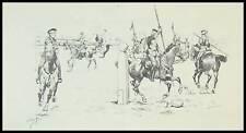Gravure ARMEE ALLEMANDE ARMEMENT LANCE CHEVAUX  1895