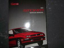 1993 Chevrolet Chevy GEO STORM Service Shop Repair Manual OEM 1993 GM Factory