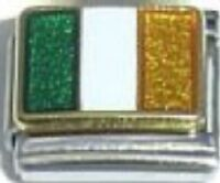 Italian Charm Irish Ireland Flag 9mm fits Classic Starter Bracelets
