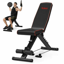 YOLEO Weight Bench Adjustable Flat Incline&Decline Workout Fitness Exercise