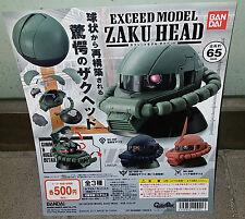 Bandai Gundam Exceed Model Zaku II Head Collection Gashapon - Set of 3