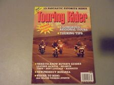 1995 TOURING RIDER  MAGAZINE, FIRST EVER ISSUE,13 FANTASTIC RIDES,TIPS,BUYERS GU