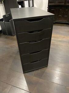 IKEA ALEX Schubladenelement schwarzbraun 70x36x58 cm Schrank Kommode