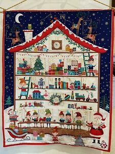 Quilted Toy Town House Advent Calendar - Handmade, Filled With Chocolates