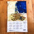 1994 vintage calendar tapestry wall decor hanging