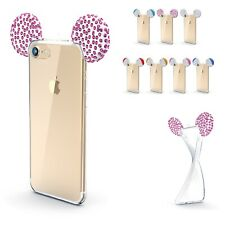 Apple iPhone Huawei Smartphone Bling Ear Backcase Sparkle Mouse Ear Cover