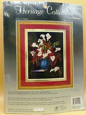 New listing Heritage Collection Calla Lilies Crewel Kit 00922 Elsa Williams Fran DiGiacomo