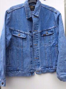 Lee Riders Sanforized Union Made Unisex Blue Vintage Denim Trucker Jacket M