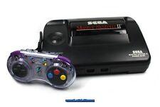 ## SEGA Master System 2 Konsole + transp. Pad + Sonic 1 + Strom- & TV-Anschluss