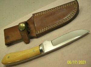 1985~BILL KENNEDY~HIGH END CUSTOM SPORTSMANS SMALL GAME HUNTING KNIFE w/SHEATH