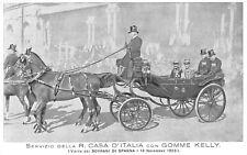 4419) GOMME KELLY PER CARROZZE. V. EMANUELE E RE ALFONSO XIII DI SPAGNA.