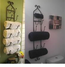 Towel Bars for Bathroom Wall Mount Wine Magazine Rack Hanging Holder Cast Iron