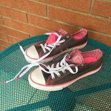 f1376f2c3897e7 Converse Chuck Taylor All Star Double Tongue Oxford Thru Sneaker Shoe Gray  Pink