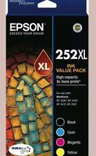 Epson 252XL High Yield Value Pack->WF-3620/3640/WF7610/7620 T253692 T253 Genuine